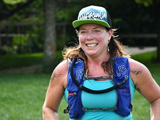 Runner in a hat
